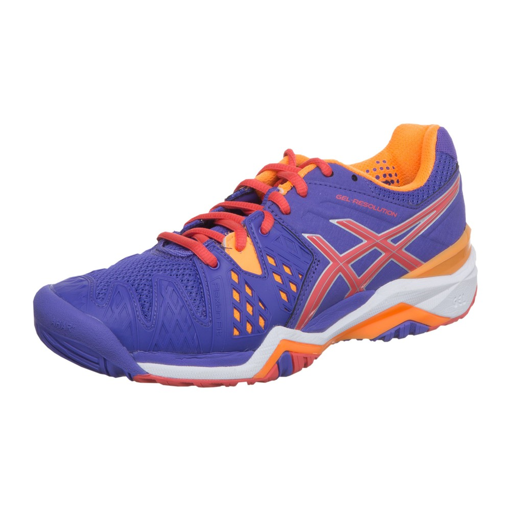 chaussures de tennis femme asics resolution 6 lavender hot coral nectarine asics tennis passion. Black Bedroom Furniture Sets. Home Design Ideas