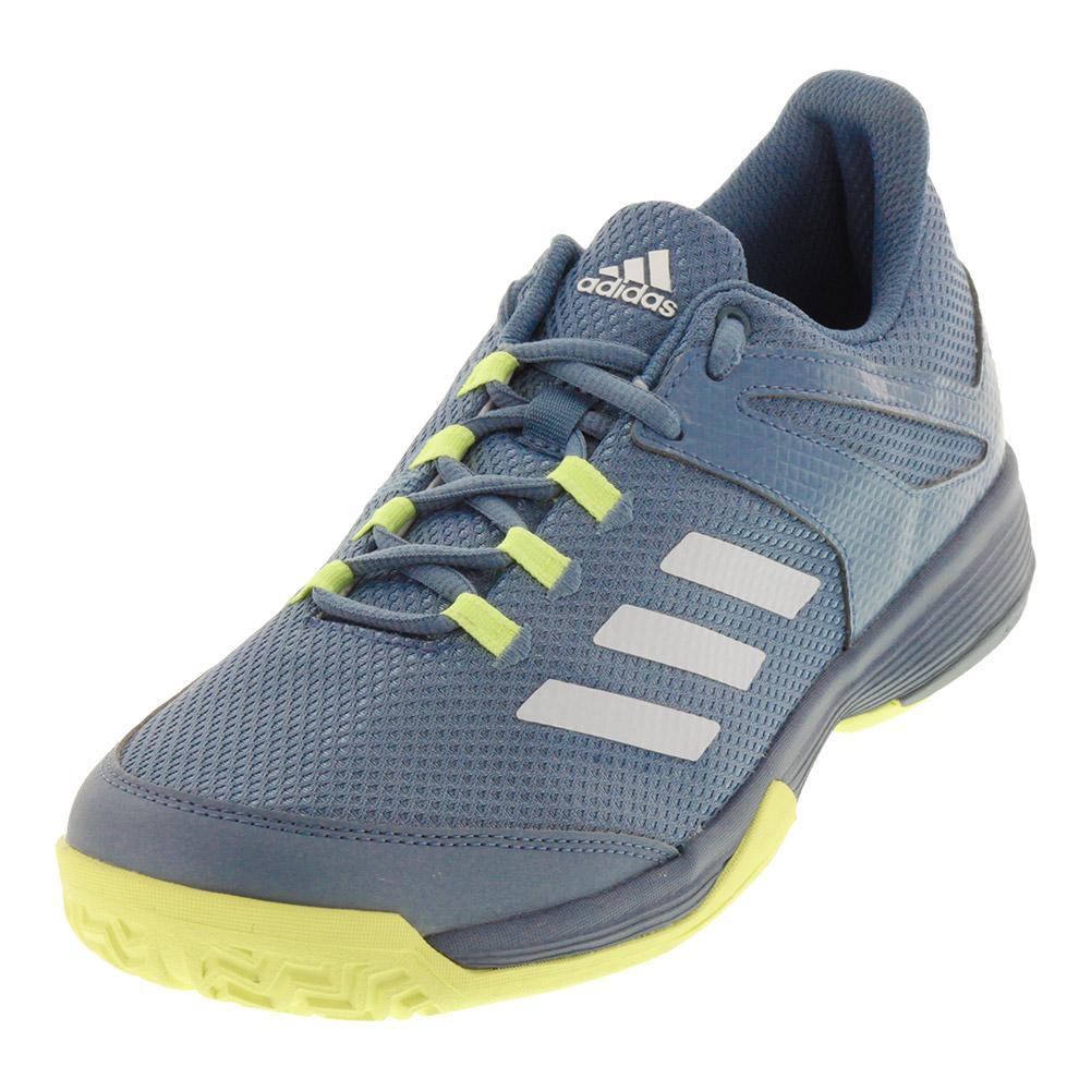 sports shoes 48e4e 84bda CHAUSSURES DE TENNIS ADIDAS ADIZERO CLUB K GRIS JAUNE